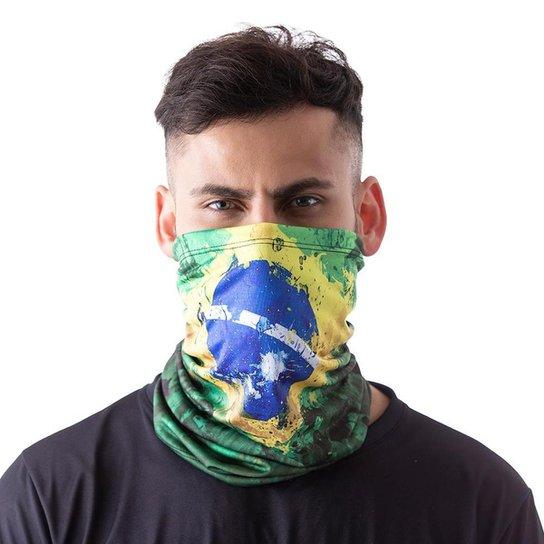 Máscara Bandana Brasil Proteção Ciclismo Pesca Moto - Verde