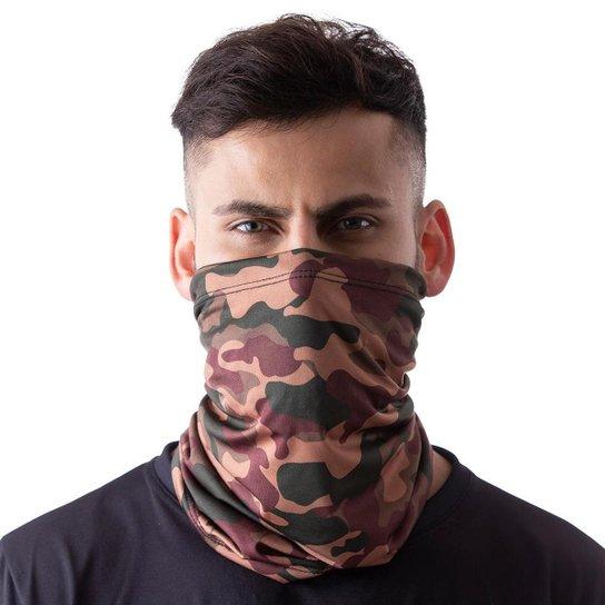 Máscara Bandana Camuflada Militar Proteção Ciclismo Pesca - Marrom