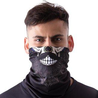 Máscara Bandana Caveira Mexicana Barba Proteção Pesca Moto