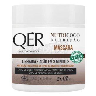 Máscara Capilar Griffus QÉR Beauty Cosmectis Nutricoco 500g