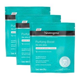 Máscara de Hidrogel Neutrogena Purifying Boost 30ml