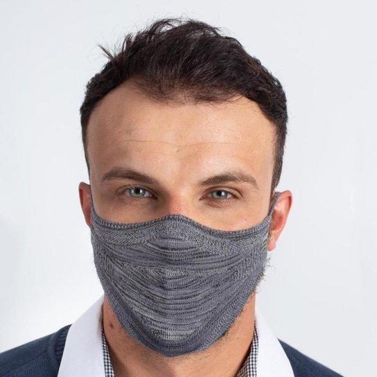 Máscara de Malha Masculina - Cinza