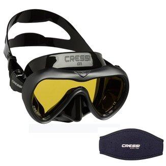 Máscara de Mergulho Cressi A1 Anti Fog + Strap