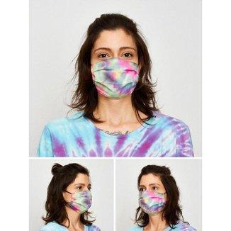 Máscara De Proteção Plissada Tie Dye Thunder