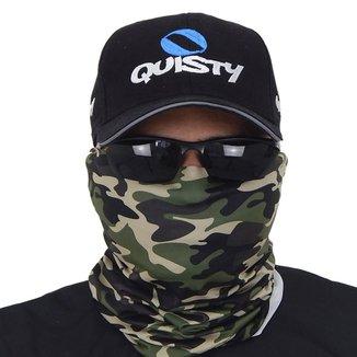 Máscara De Proteção Solar Camuflagem Floresta 3d Uv 50 Protection - Pesca Esportiva