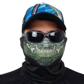 Máscara De Proteção Solar Crocodilo Uv 50 Protection - Pesca Esportiva