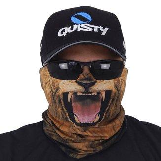 Máscara De Proteção Solar Leão 3d Uv 50 Protection - Pesca Esportiva