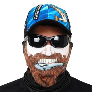 Máscara De Proteção Solar Pescador Fisgando Uv 50 Protection - Pesca Esportiva