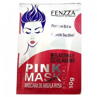 Máscara Facial Argila Rosa Pink Mask Sachê 10g Fenzza FZ38002