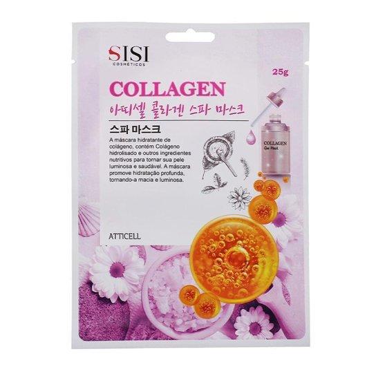 Máscara Facial Sisi Cosméticos - Collagen Spa Mask 1Un - Incolor