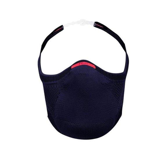 Máscara Knit de Proteção Ajustável com Suporte para Filtro - Azul Marinho - Azul+Marinho