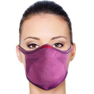Máscara Knit de Proteção Ajustável com Suporte para Filtro - Rosa