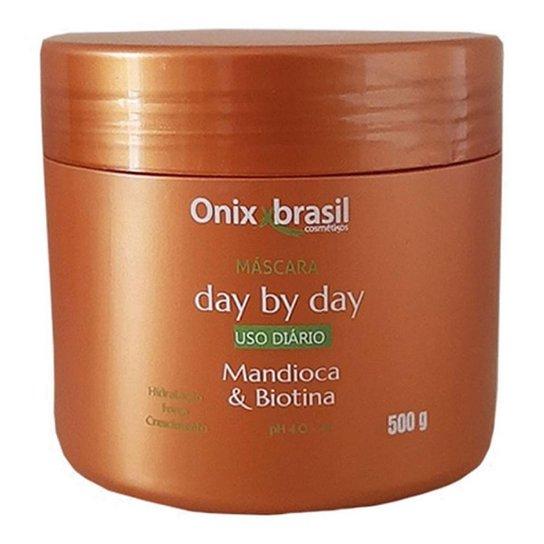 MASCARA MANDIOCA E BIOTINA DAY BY DAY 500 G - ONIXX (BRONZE) - Bronze