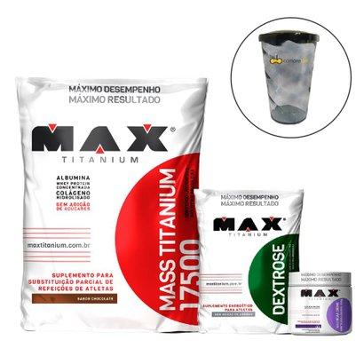 Mass 17500 3kg+ Dextrose 1kg + Bcaa + Shakeira