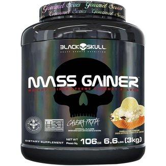 Mass Gainer Gourmet   3000g Black Skull