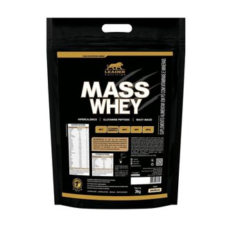 Mass Whey 3kg refil - Leader Nutrition - Chocolate