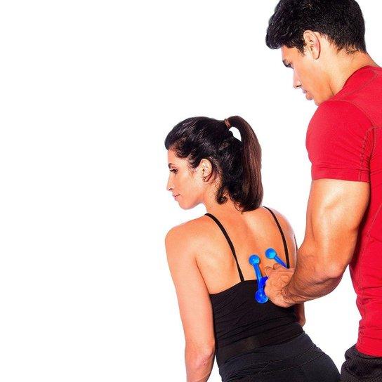 Massageador Manual Com 4 Esferas Acte Sports - Azul