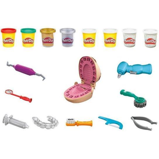 Massinha Play-Doh Brincando de Dentista Hasbro - Colorido