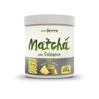 Matchá Apisnutri com Colágeno Sabor Abacaxi com Hortelã 200g