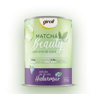 Matcha Beauty com Leite de Coco e adição de Ácido Hialurônico 210g - Giroil