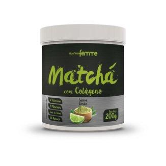 Matchá com Colágeno Sabor Limão 200g Apisnutri