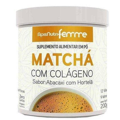 Matcha Solúvel Apisnutri Femme 200g Abacaxi com Hortelã