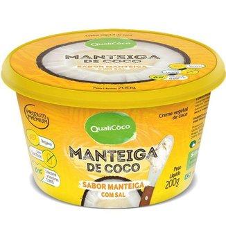 Maŋteiga de Coco Qualicoco 200g Natural com sal