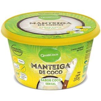Maŋteiga de Coco Qualicoco 200g Natural