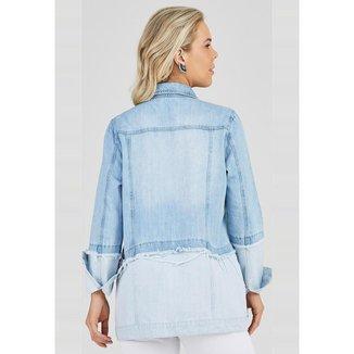 Maxi Jaqueta Jeans Outlet Premium Yasmin