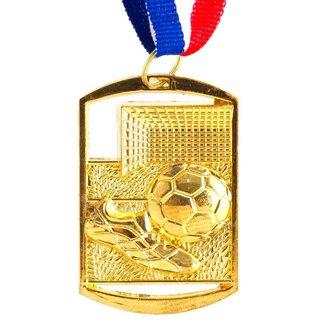 Medalha AX Esportes Futebol Retangular 40x60 Dourada - FA469