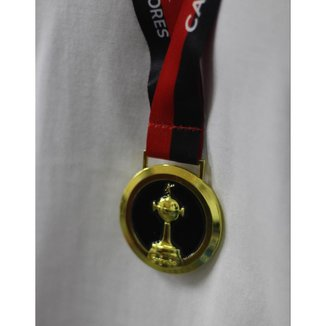 Medalha Oficial Licenciada Flamengo Bicampeão Libertadores da América - Milled