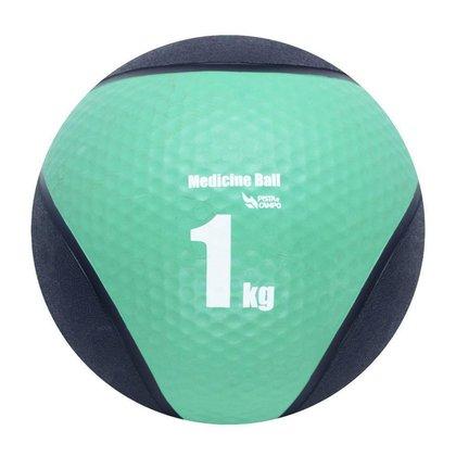 Medicine Ball de Borracha Inflável Premium 1kg Pista e Campo