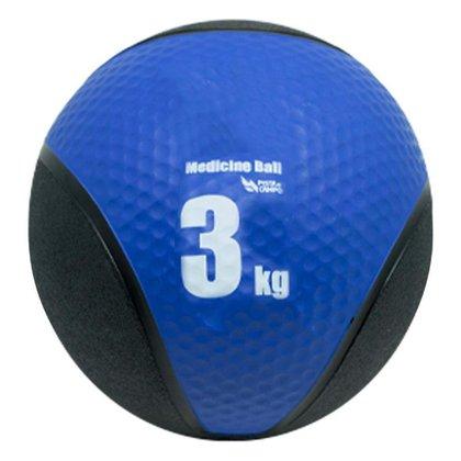 Medicine Ball de Borracha Inflável Premium 3kg Pista e Campo