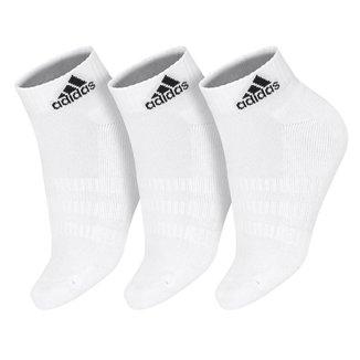 Meia Adidas Cano Curto Cushioned Ankle Branca - Pack com 3 unidades - 38 ao 40