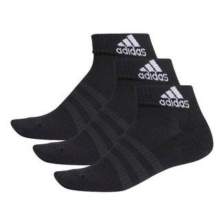 Meia Adidas Cushioned Ankle Unissex - Preto
