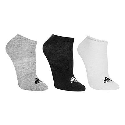 Meia Adidas Thin Invisível Pacote C/ 3 Pares