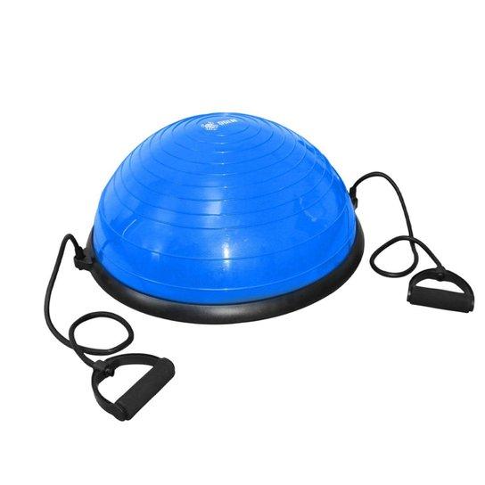 Meia Bola Bosu Antiestouro Com Alças - ODIN FIT - Azul