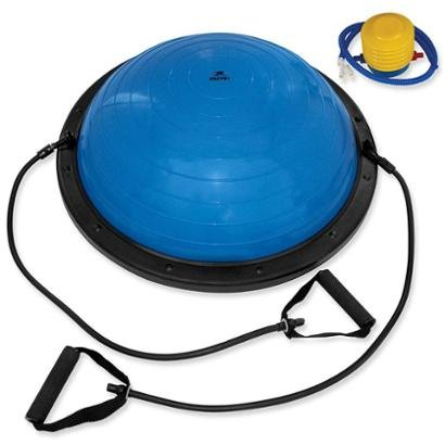 Meia Bola de Pilates com Extensor Muvin BOS - 100 - Unissex - Azul