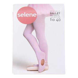 Meia Calça Infantil Selene Ballet Fio 40 Com Abertura Feminina