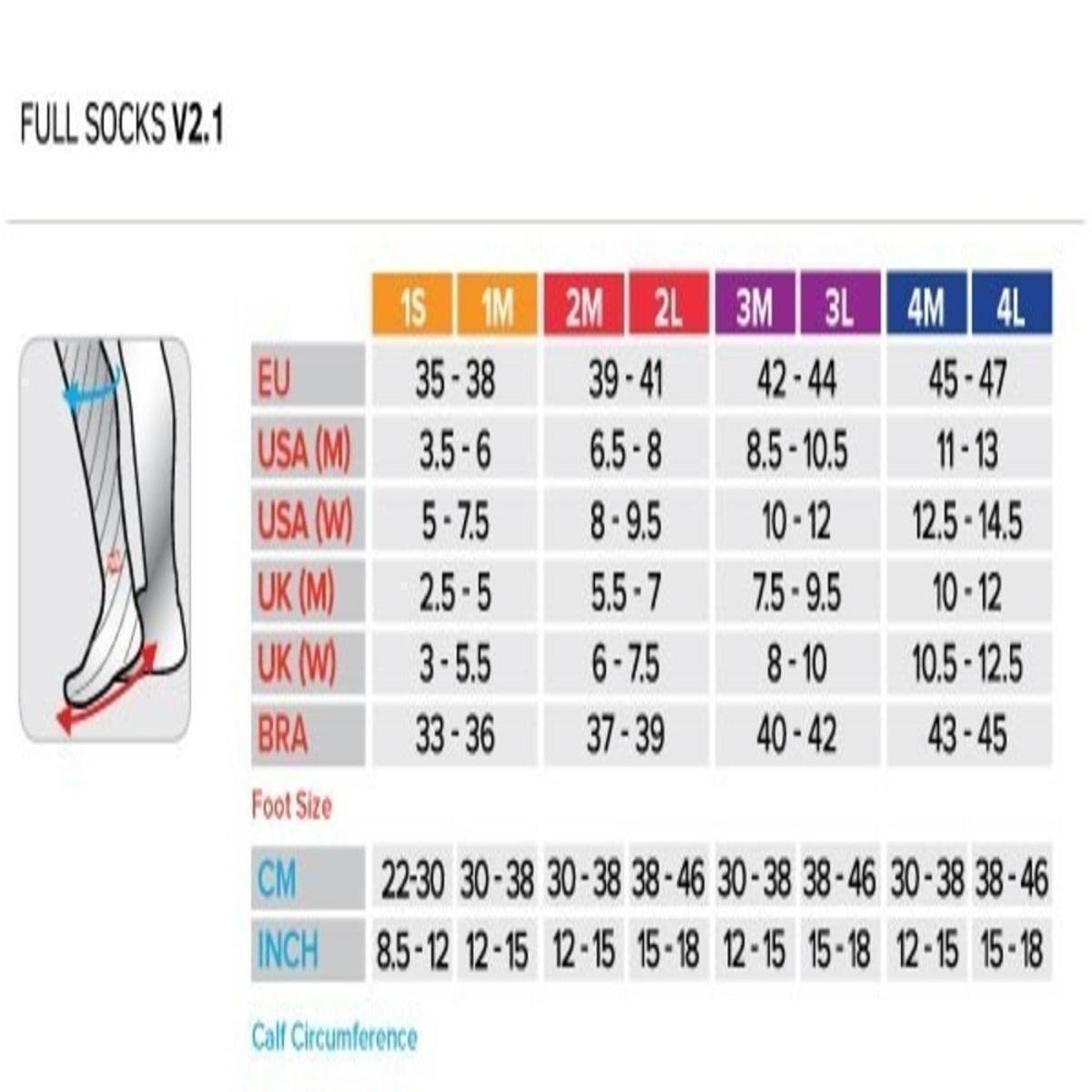 de Alto Cano Meia Rosa V2 Full Compressão 1 Compressport Socks CfIdwq