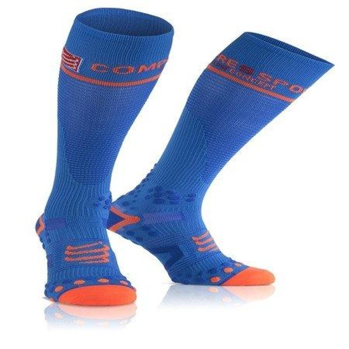 Full Alto Compressport Azul de Compressão Meia V21 Cano Laranja e Socks ZqwfXTI