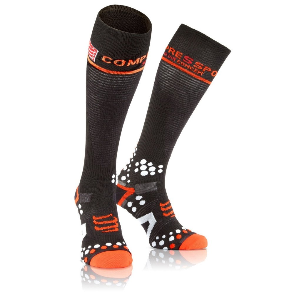 Meia Socks Preto V2 Compressão de Tamanho 1M Full Compressport frfIS
