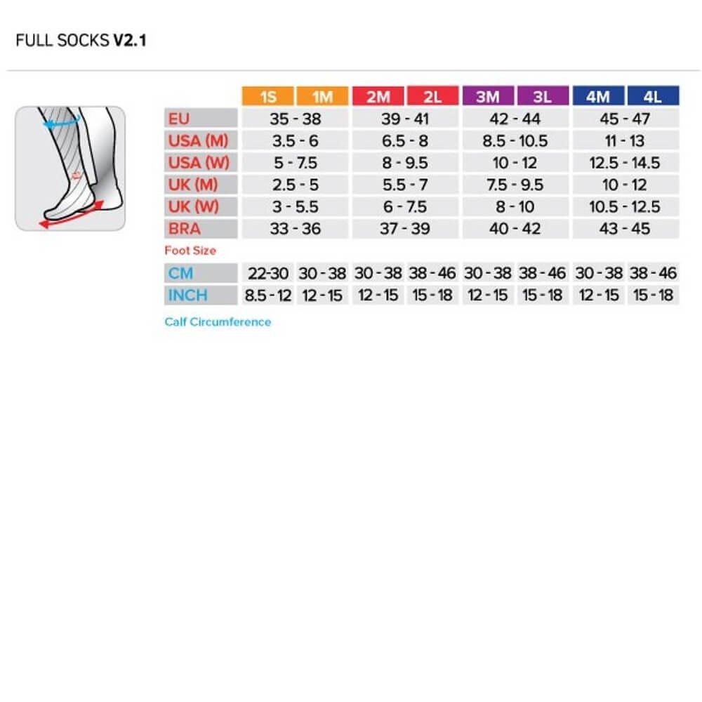 de Compressport Socks Full Tamanho Meia 1M Preto V2 Compressão dwqnF