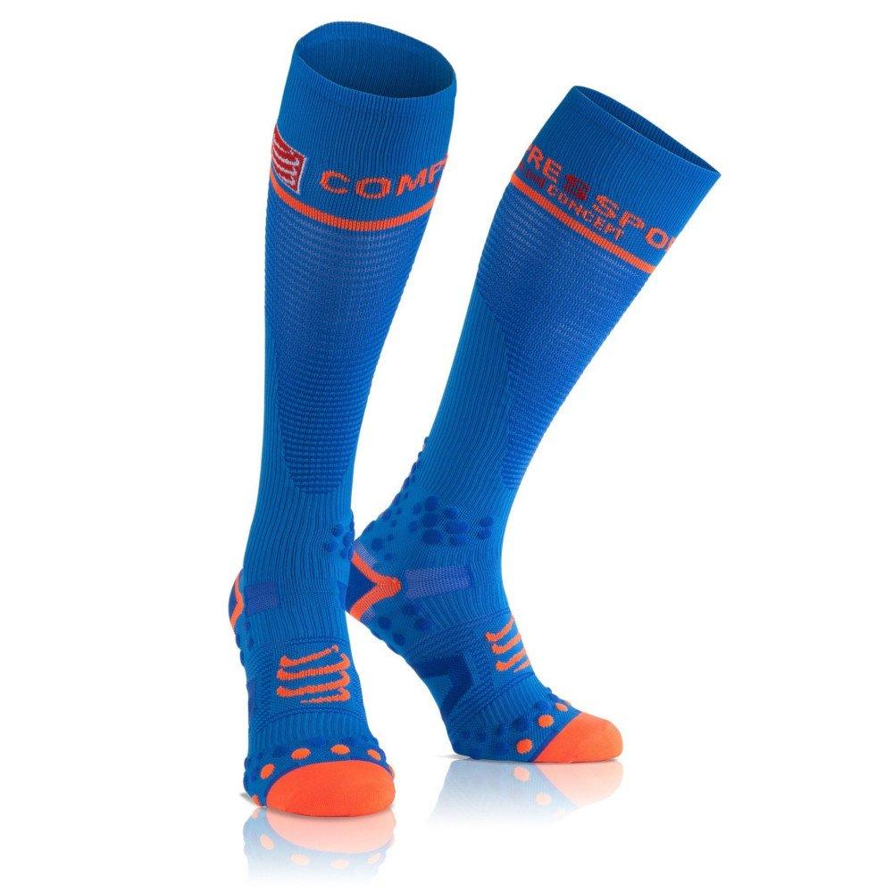 de V2 Compressport Compressão 1M Socks Tamanho Azul Full Meia 6Xaqwdq