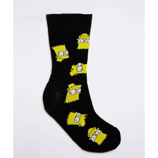 Meia Masculina Cano Longo Estampa Bart Simpsons - 10043711475
