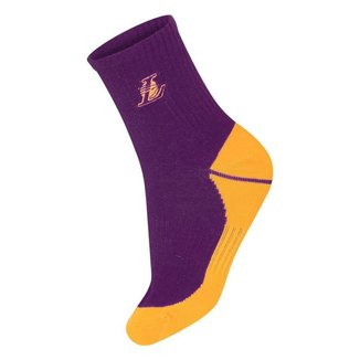 Meia NBA Los Angeles Lakers Cano Médio Bordado