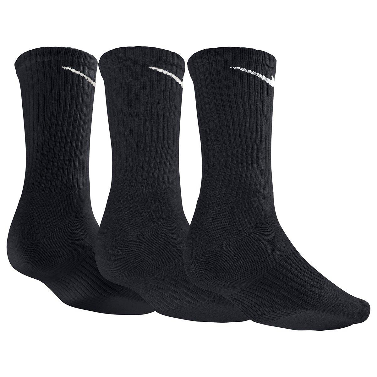 Meia Nike Cano Alto Pacote c  3 Pares - Preto - Compre Agora  d88f90e5c701d