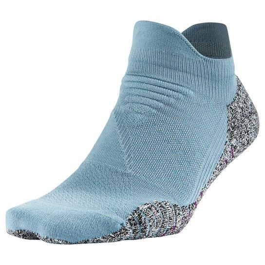Meia Nike Cano Baixo Nike Grip Lightweight Feminina - Cinza+Azul Claro
