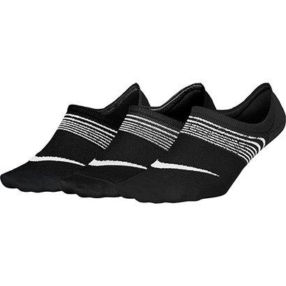 Meia Nike Sem Cano Lightweight Pacote com 3 Pares