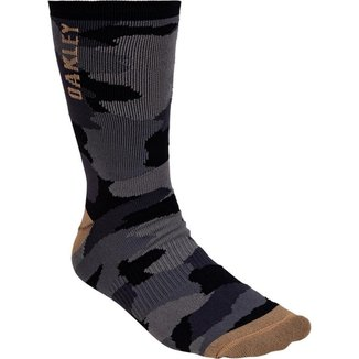 Meia Oakley Camo Crew Sock Cano Alto